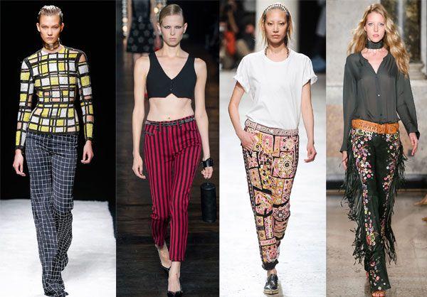 Модные брюки в клетку и полоску