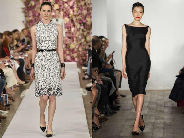 Офисные платья разных фасонов