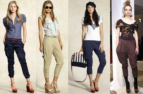 Писк моды брюки галифе