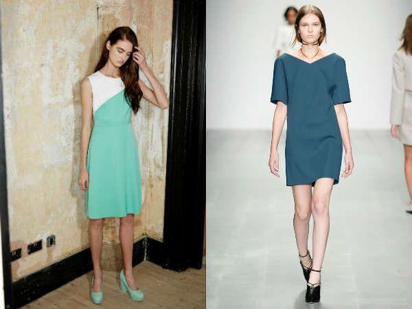 Прямые платья для офисов также в моде