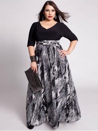 Шикарные длиные юбки для пышных женщин