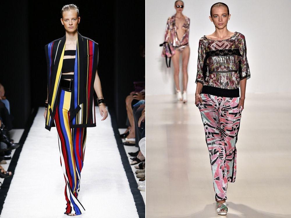 Стильные брюки с абстрактным рисунком