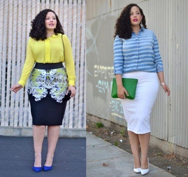 Стильные туники и блузки для полных