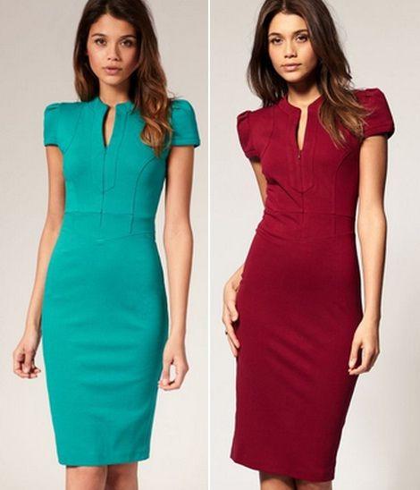 Строгое платье футляр деловая мода