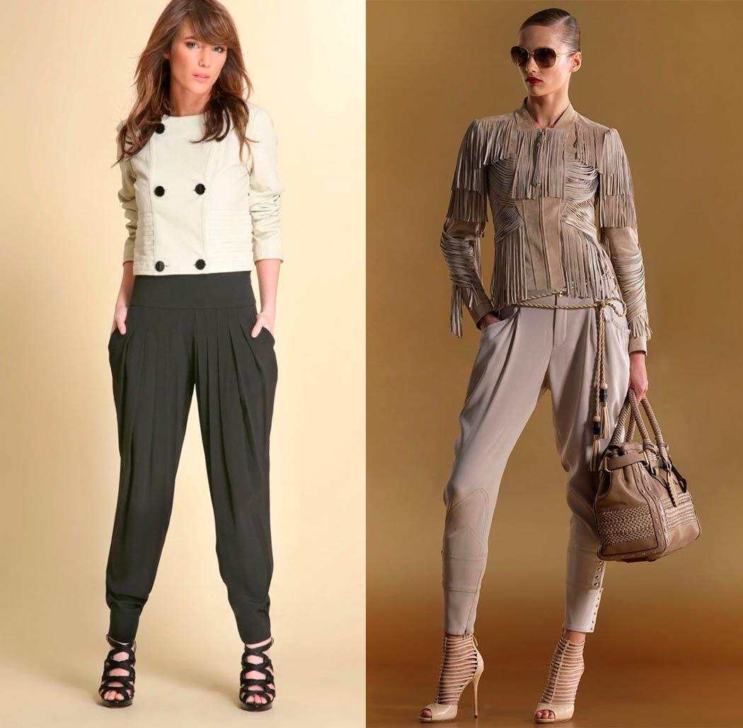 Трендовые брюки галифе для девушки