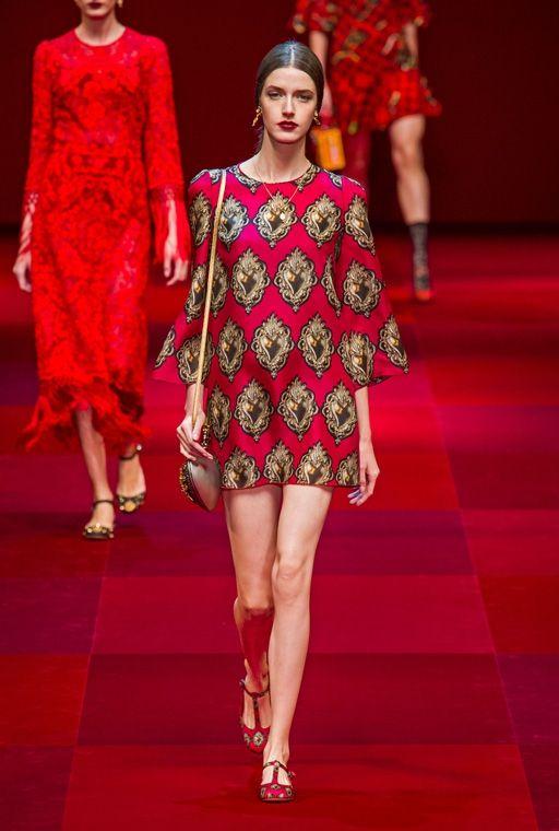 dolce gabbana представляет модное прямое платье