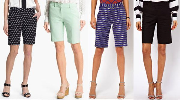 Женские шорты в одежде для офиса
