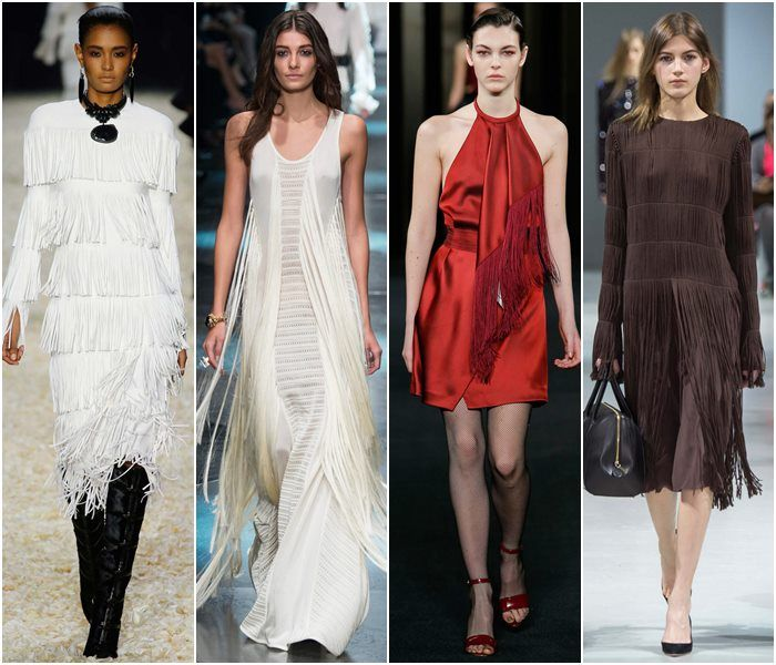 Коктейльные платья из бахромы