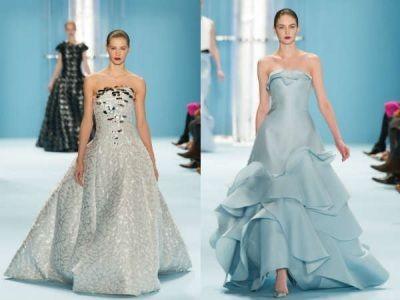 Бальные вечерние платья с подиумов моды