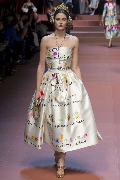 Креатив на вечернем платье от модельеров