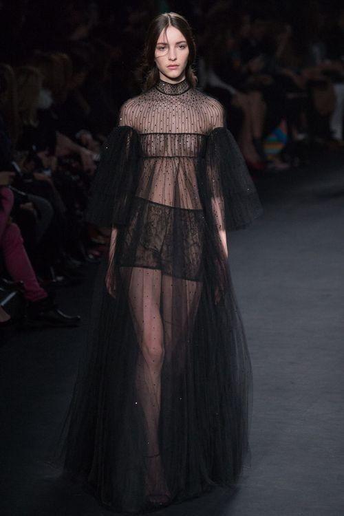 Прозрачное сексуальное вечернее платье