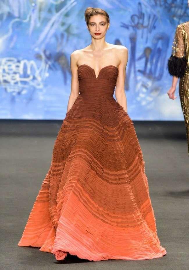 Стильное бальное платье