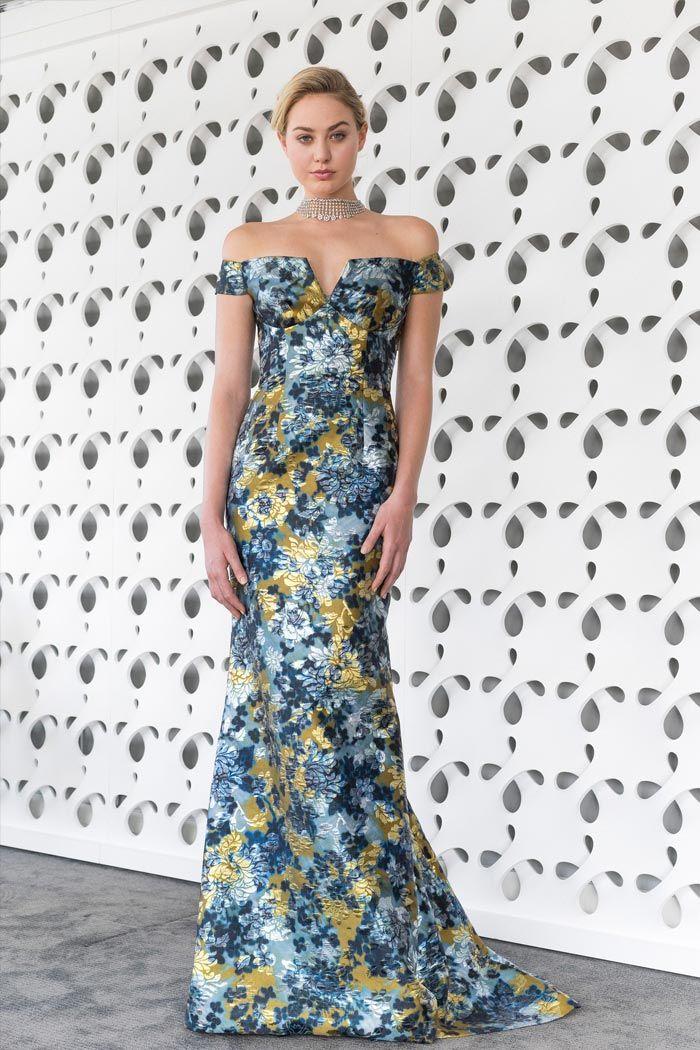 Вечернее платье с цветочным принтом