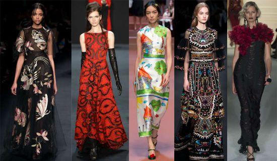 Вечерние платья с абстрактными узорами