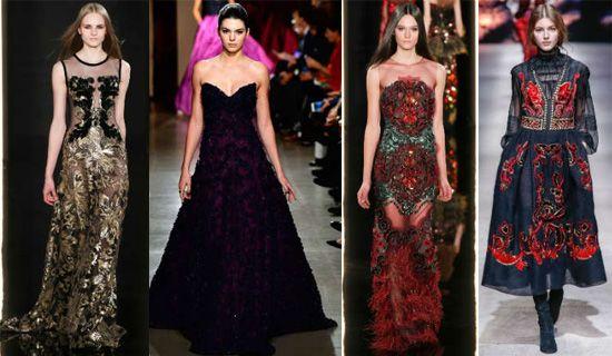 Великолепные вечерние платья в стиле барокко