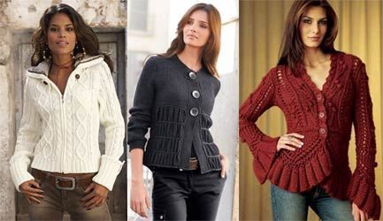 вязаные вещи - мода на свитера