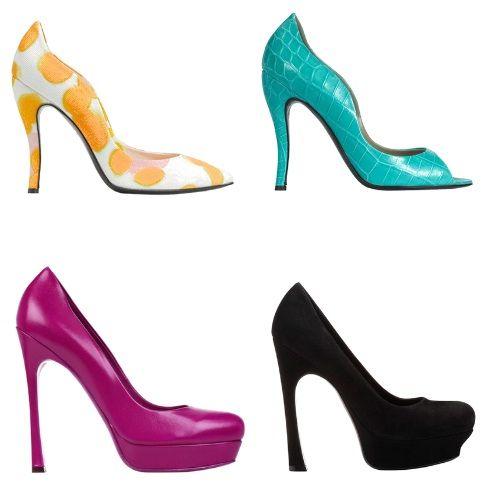 туфли разных цветов