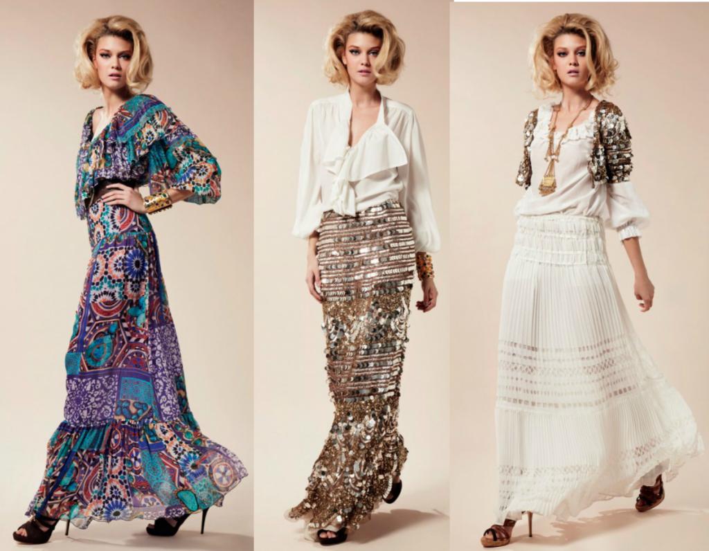 длинные летние платья 2012