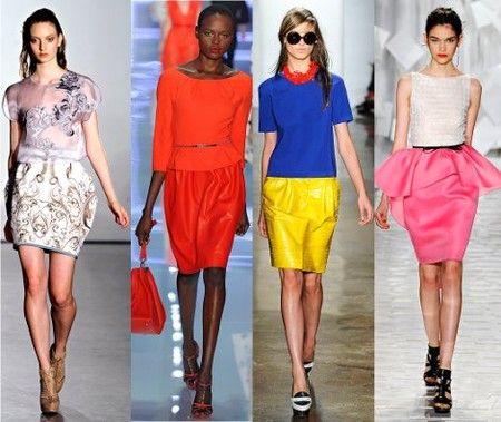 летние модные юбки 2012