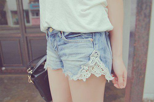 короткие летние джинсовые шорты