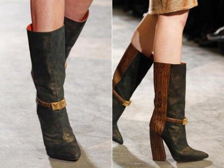 модная обувь осень с отделкой