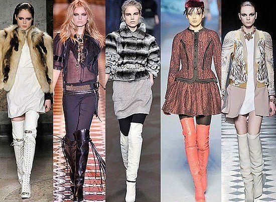 модные сапоги осень 2012 на подиуме