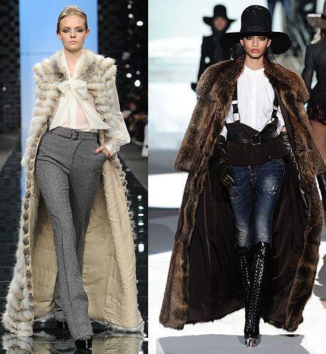 модные шубы 2013 яркость стиля