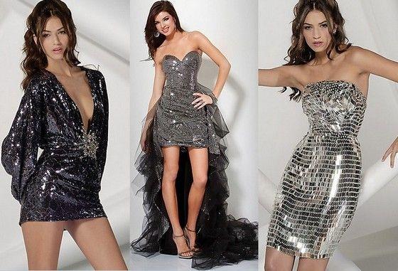 блестящие платья на новый год 2013