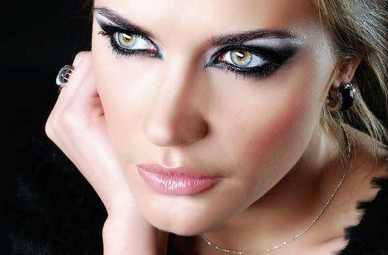 новогодний макияж 2013 для голубых глаз