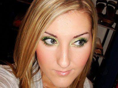 интересный макияж вашим зеленым глазам
