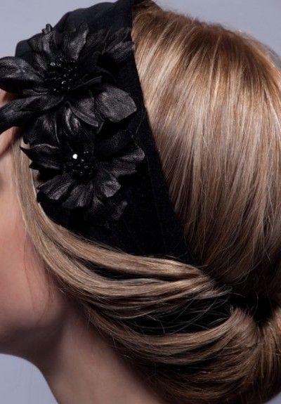 лента-резинка для волос с цветами