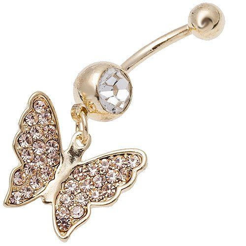 украшение для пирсинга в виде бабочки