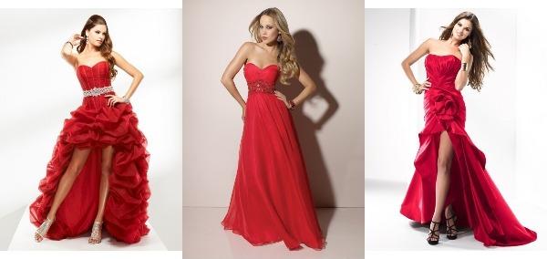 длинные платья на выпускной яркого красного цвета