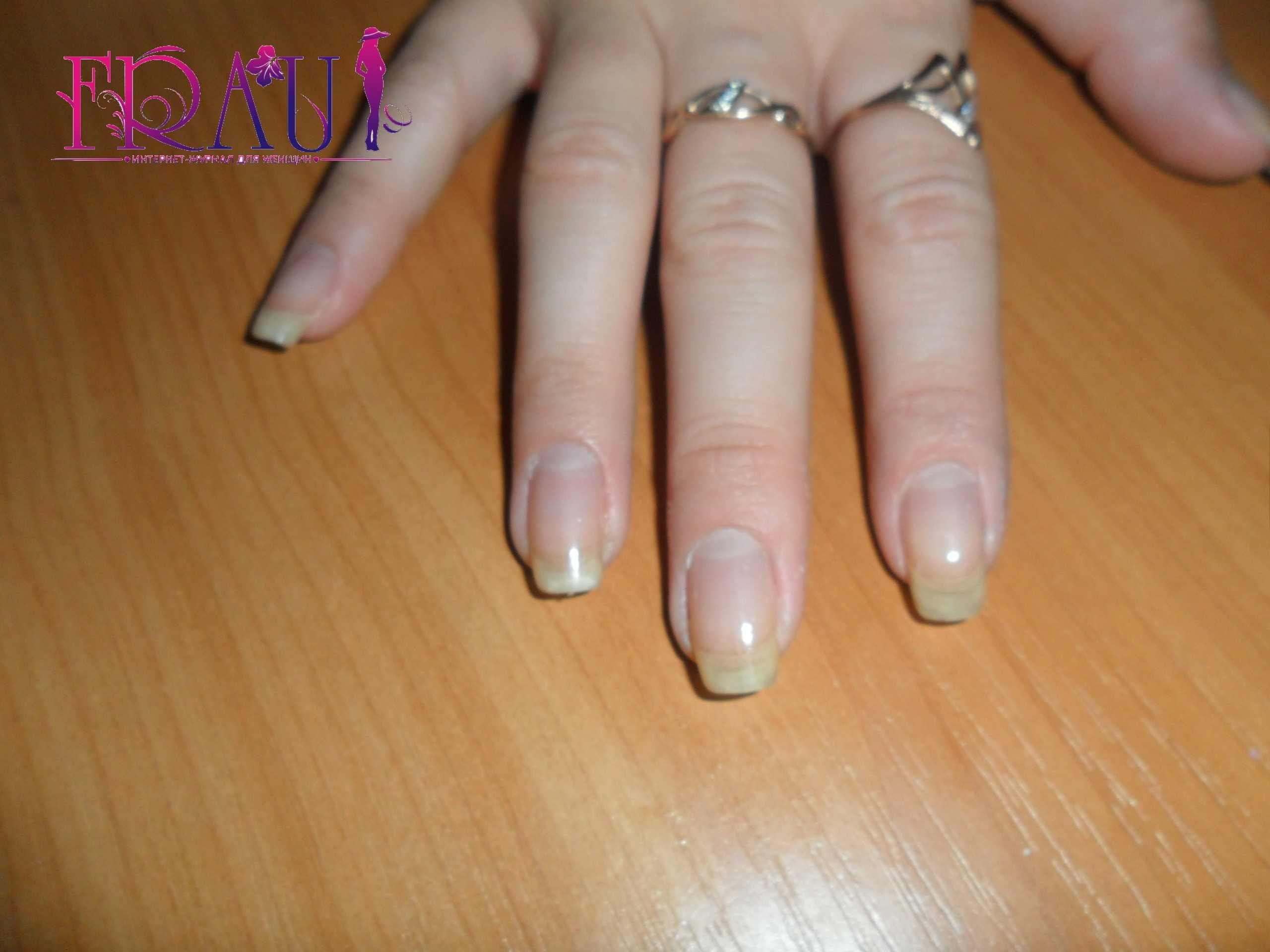 готовим ногти для маникюра
