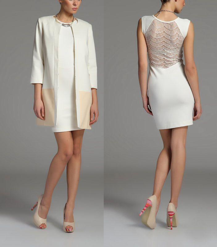 белое платье классического стиля