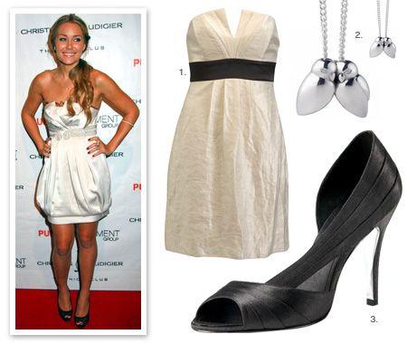 стильное белое платье от звезд шоу-бизнеса