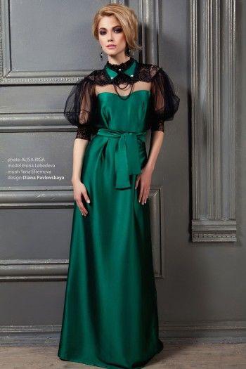 вечерние платья в зеленых тонах