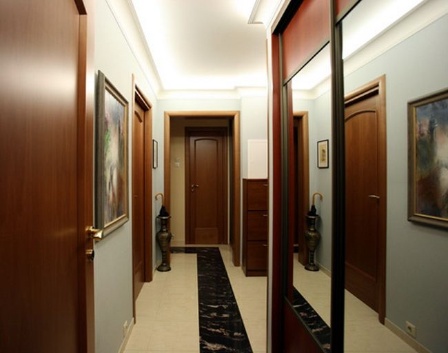 свет в дизайне прихожей квартиры