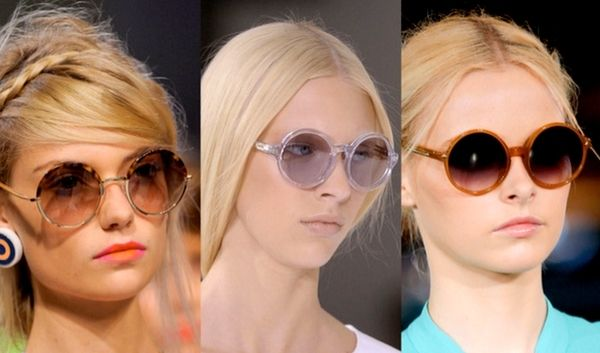 круглые солнцезащитные очки
