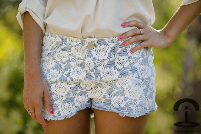 кружевные шорты для девушек