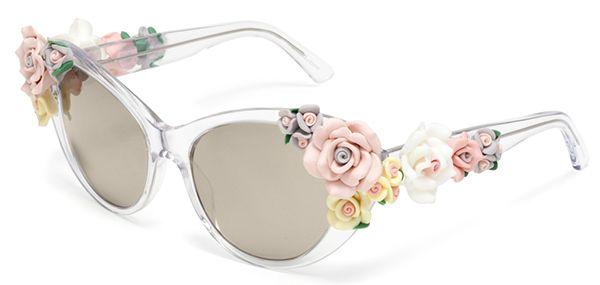 очки с цветами в виде декора