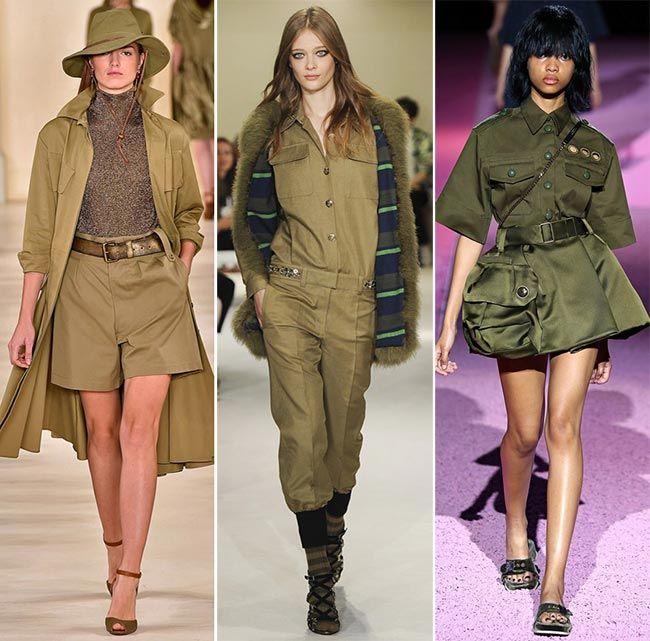 Блузки в военном стиле