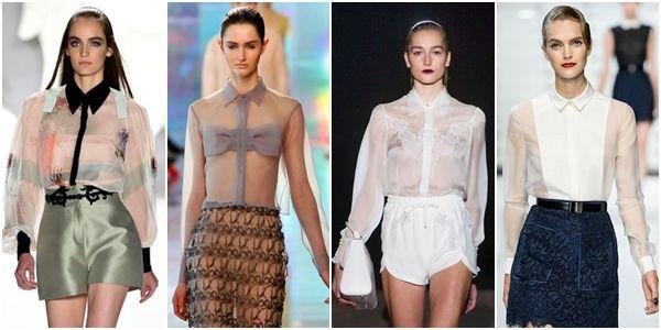 прозрачные блузки с элементами закрывающими грудь