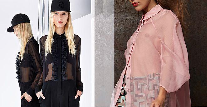 прозрачные топы мода от 2015 года