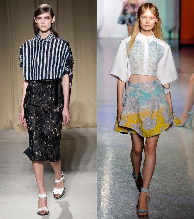 стильные блузки-топы
