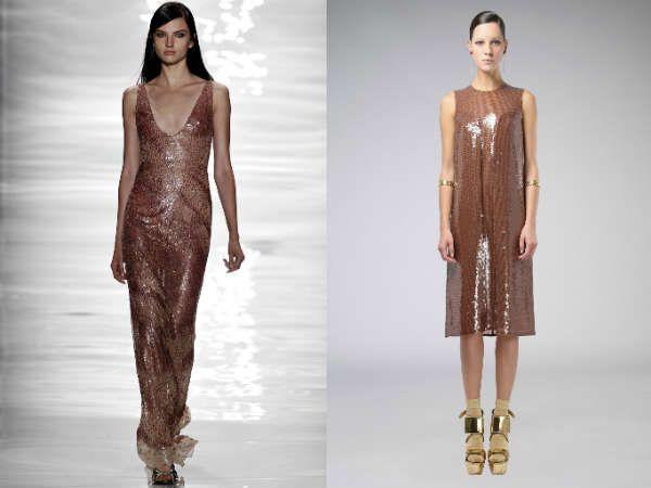 Блестящие вечерние платья снова в моде