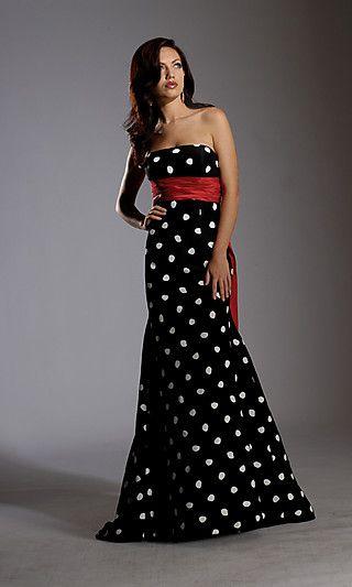 Платье годе в горошек