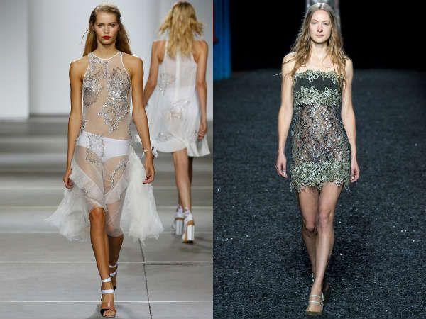 легкие прозрачные вечерние платья