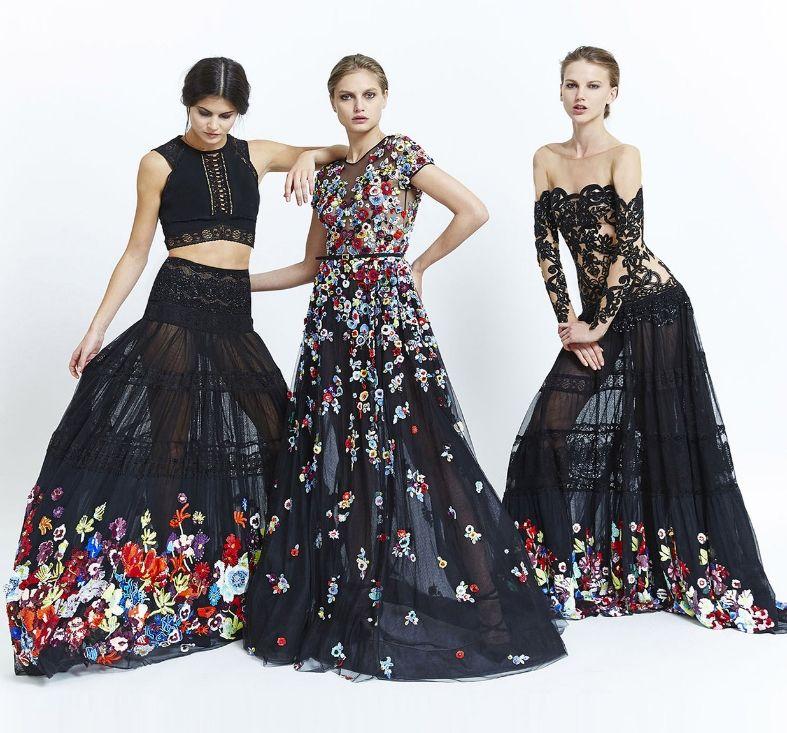 прозрачные платья с модным принтом