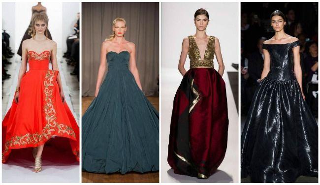 пышные модные платья 2015